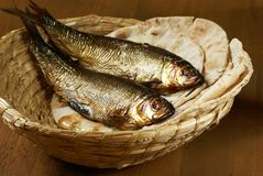 Bread and fish Royalty Free Stock Photography