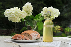 Bread and wine Royalty Free Stock Photography