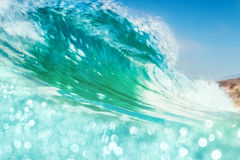 Breaking Wave with Bokeh Royalty Free Stock Photo