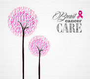 Breast cancer awareness pink ribbons conceptual trees EPS10 file Royalty Free Stock Image