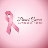 Breast Cancer Awareness Ribbon Background Royalty Free Stock Images