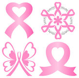 Breast Cancer Pink Ribbon Set/eps Stock Image