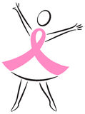Breast Cancer Pink Ribbon Woman/eps Royalty Free Stock Images