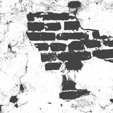 Brickwork, brick wall of an old house, black and white grunge texture, abstract background. Vector Stock Images