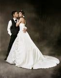 Wedding Couple, Bride and groom fashion studio shoot Stock Photos