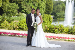 Bride and groom newlywed Stock Photos