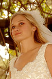 Bride thinking Royalty Free Stock Photos