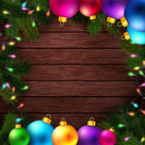 Bright and colorful winter holidays background. Stock Photo