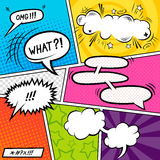Bright Comic Elements Royalty Free Stock Photos