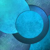 Bright sky blue abstract background image with cool round circle design shapes and vintage grunge background texture design layout Stock Photography