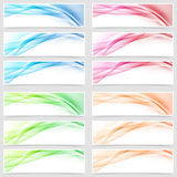 Bright smooth abstract line swoosh web footer Stock Images