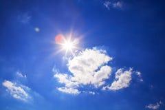 Bright sun in sky Royalty Free Stock Photo