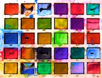 Brilliant paintbox Royalty Free Stock Photo