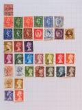 British mail stamps Stock Photos