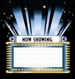 Broadway Movie Marquee Royalty Free Stock Image