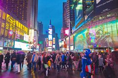 Broadway Times Square at night, New York Stock Photo