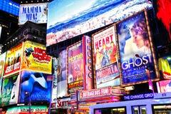 Broadway toont New York Stock Fotografie