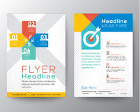 Brochure Flyer graphic design Layout vector template Stock Photo