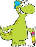 Brontosaurus holding a pencil Stock Photography