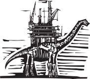 Brontosaurus Oil Rig Stock Images