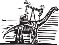 Brontosaurus Oil Well Pump Royalty Free Stock Photography