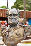 Bronze bust of Dom Pedro II in Ilhabela Royalty Free Stock Photography