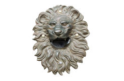 Bronze lion head cutout Royalty Free Stock Photos