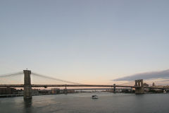 Brooklyn and Manhattan Bridge Royalty Free Stock Photography
