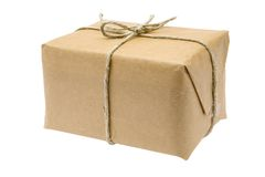 Brown Parcel Royalty Free Stock Photos