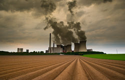 Browncoal Powerplant Royalty Free Stock Image