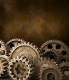 bruna kuggekugghjul för bakgrund Royaltyfri Foto