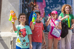 The Bubble Parade 2015 Stock Photo