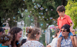 Bubbles Parade Stock Photo