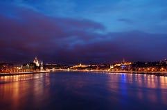 Budapest Danube sunset Royalty Free Stock Images