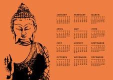 Buddha Calendar Royalty Free Stock Images