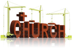 Building a christian church religion trust Stock Images