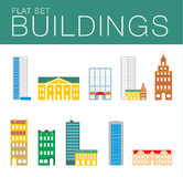 Building icon set. Abstract architecture Stock Photos