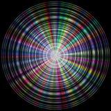 Bunte (Regenbogen) Scheibe gemacht von den konzentrischen Kreisen Lizenzfreie Stockbilder
