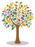 Buntes Baum-Logo Stockfotografie