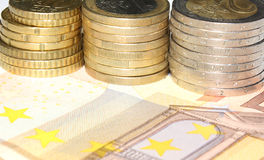Buntes europäisches Bargeld Lizenzfreie Stockbilder