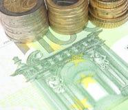 Buntes europäisches Bargeld Lizenzfreies Stockfoto