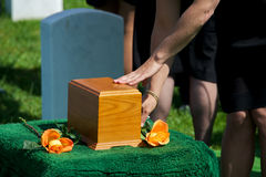 Burial Farewell Stock Photo
