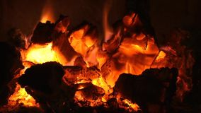 Burning Embers Fireplace Video stock video footage