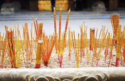 Incense sticks in Asian Chinese temple China Stock Image