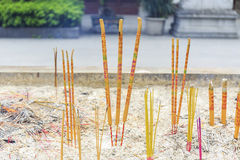 Incense sticks in Asian Chinese temple, China Asia Royalty Free Stock Image