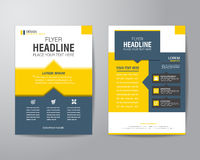Business brochure flyer design layout template in A4 size, with Royalty Free Stock Images