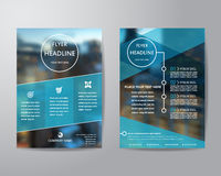 Business brochure flyer design layout template in A4 size, with Royalty Free Stock Image