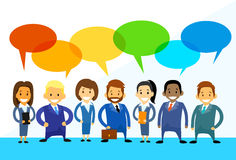 Business Cartoon People Group Talking Discussing Royalty Free Stock Photography