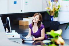 Business, communication and call center concept Stock Photos