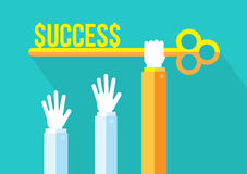 Key To Success, Business Competition, Leadership concept. Royalty Free Stock Photos